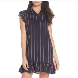 BB Dakota Striped Shirtdress